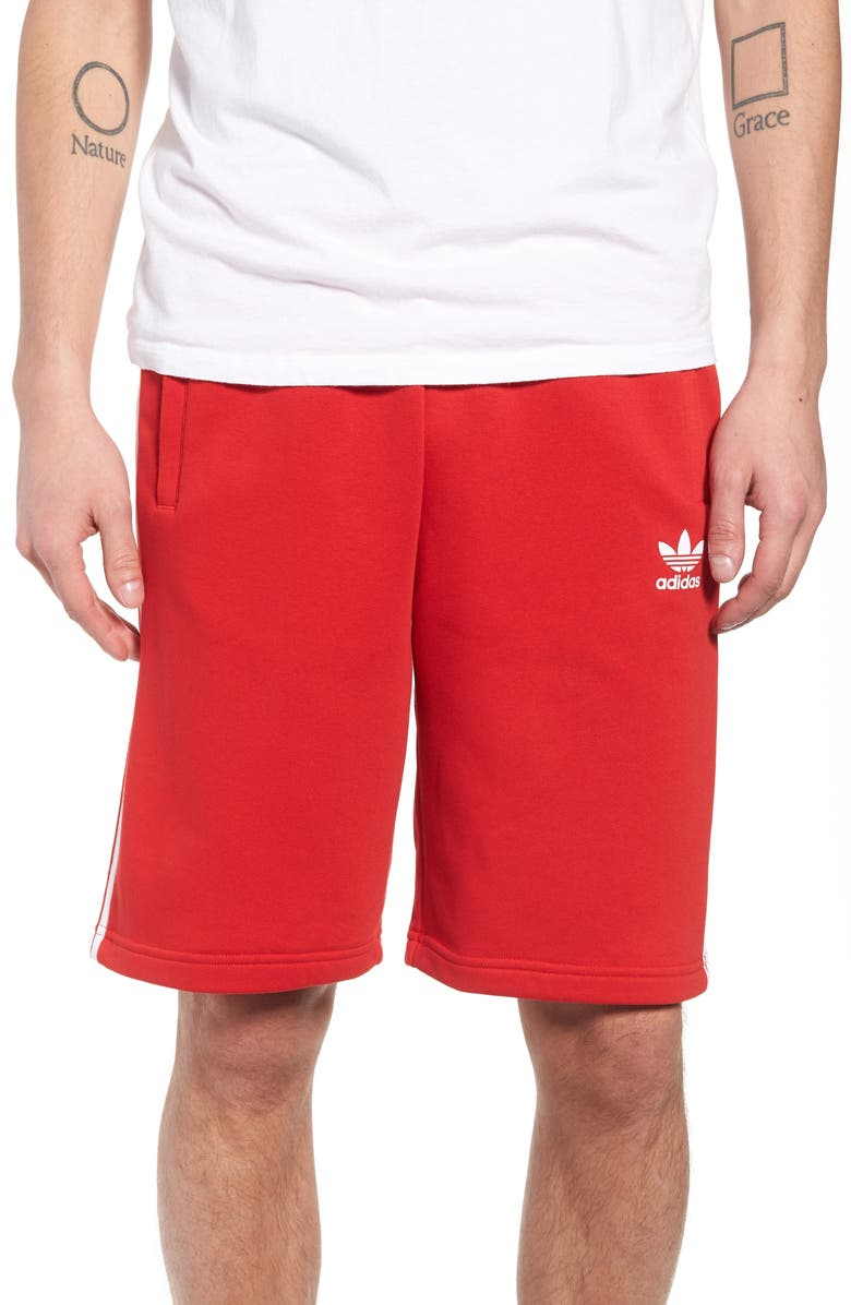 ADIDAS ORIGINALS 3-Stripes Shorts, Main, color, 610