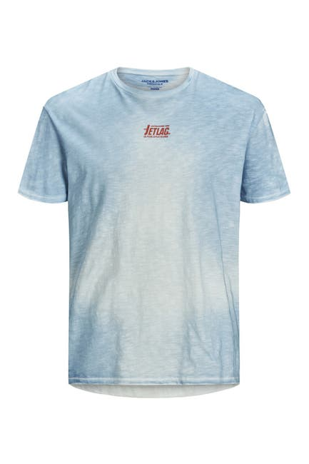 Image of JACK & JONES Soap Tie-Dye Crew Neck T-Shirt
