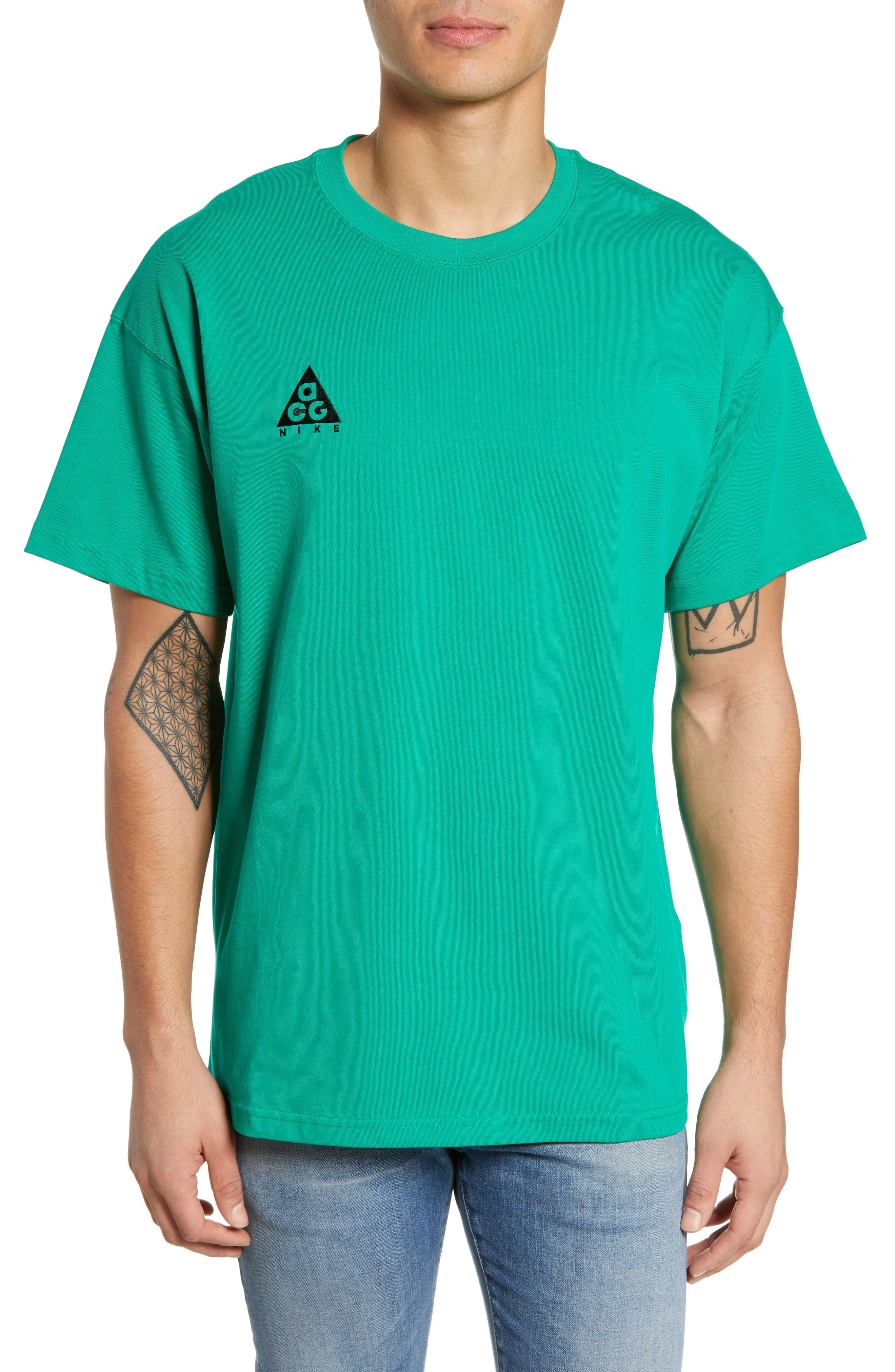 Nike Nrg All Conditions Gear Logo T-Shirt, Green