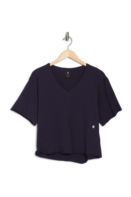 Image of G-STAR RAW Loose V-Neck Boxy Crop T-Shirt