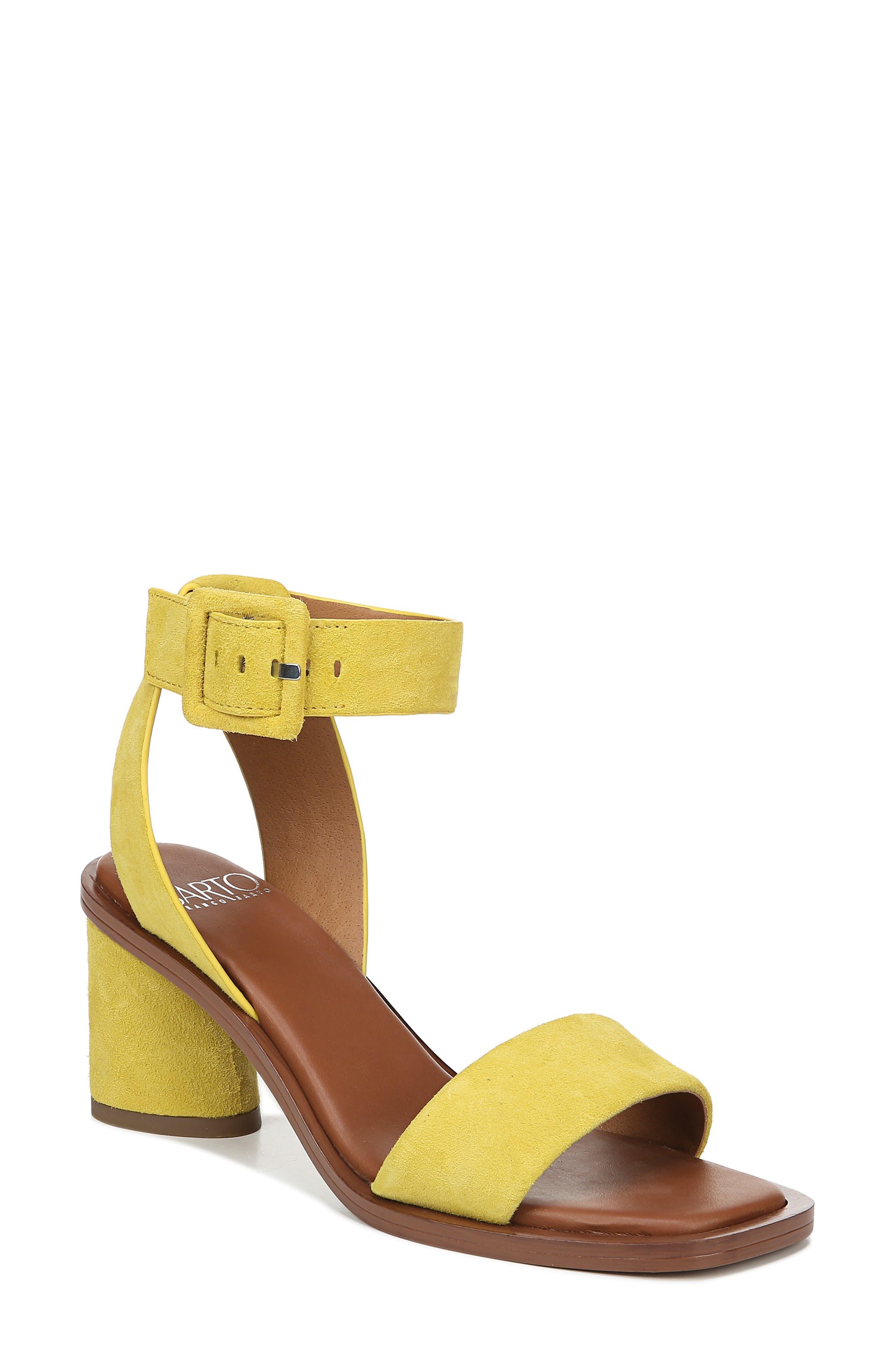 Sarto By Franco Sarto Risa Strap Sandal- Yellow