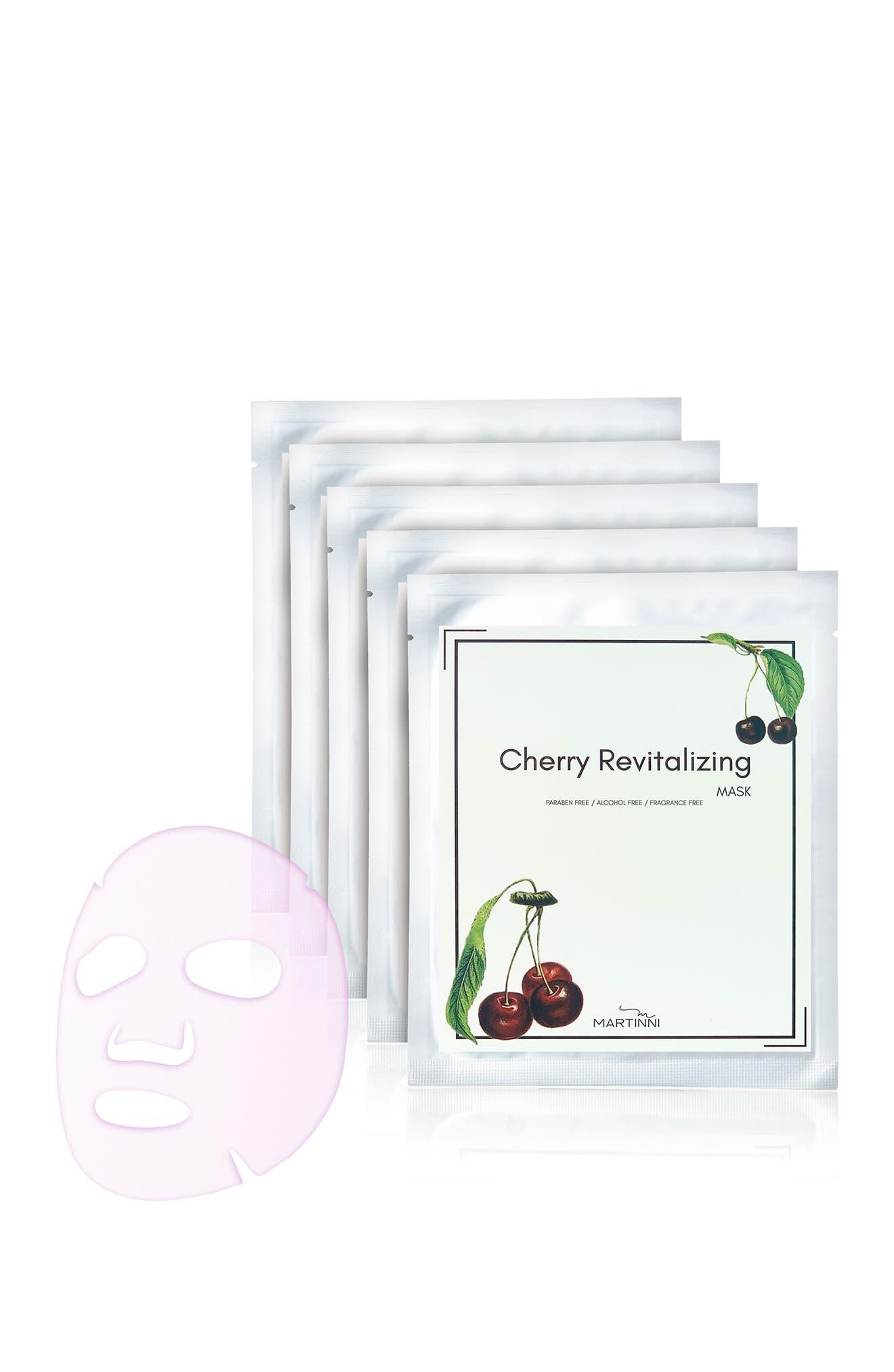 Image of MARTINNI MASKS Cherry Revitalizing Face Mask - Pack of 5