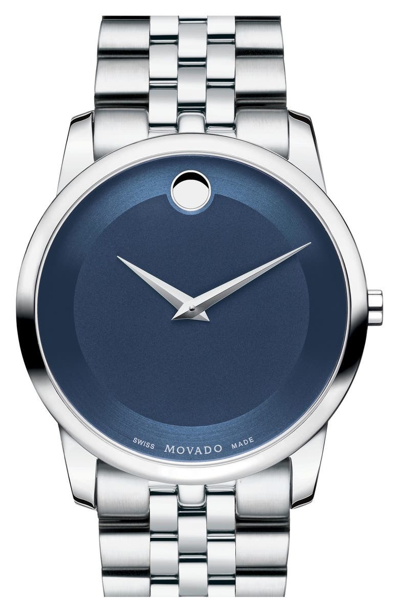 MOVADO 'Museum' Bracelet Watch, 40mm, Main, color, 040