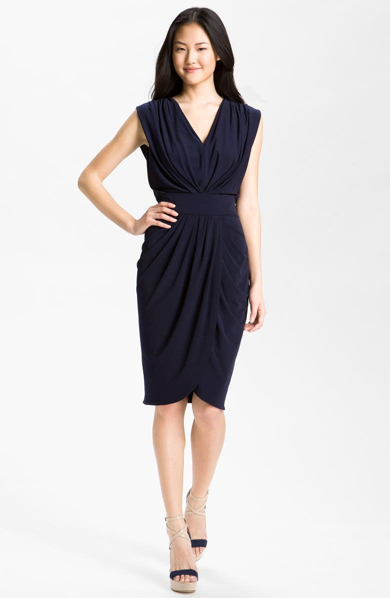 SUZI CHIN FOR MAGGY BOUTIQUE Double-V Draped Jersey Dress, Main, color, 402