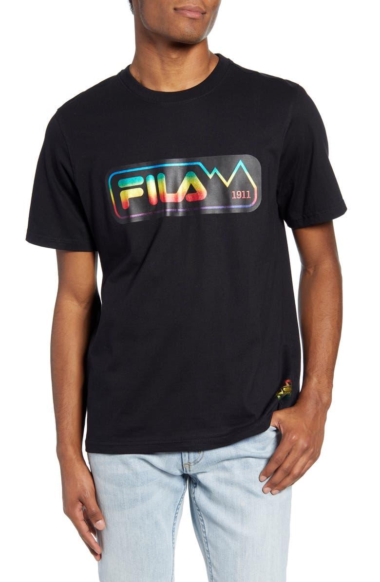 FILA Spectrum Logo T-Shirt, Main, color, 001
