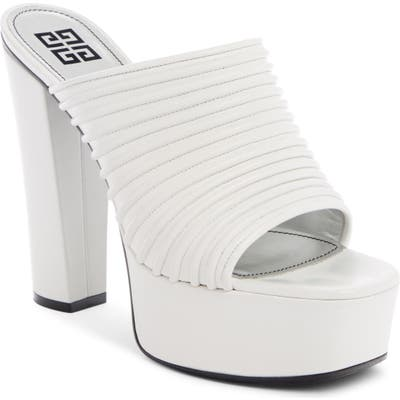 Givenchy Look Book Platform Mule - White