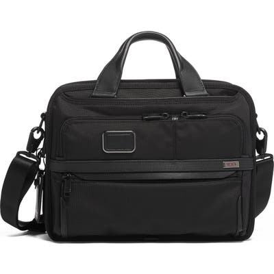 Tumi Alpha 3 Small Screen Expandable Laptop Briefcase - Black