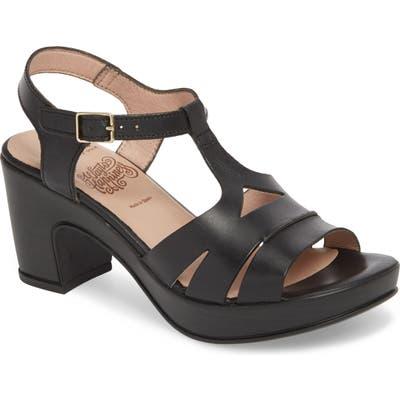 Wonders Block Heel Platform Sandal, Black