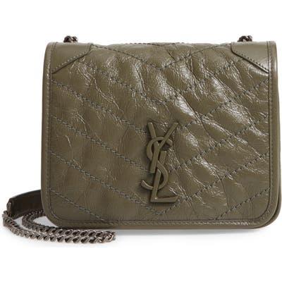Saint Laurent Niki Leather Crossbody Bag - Green