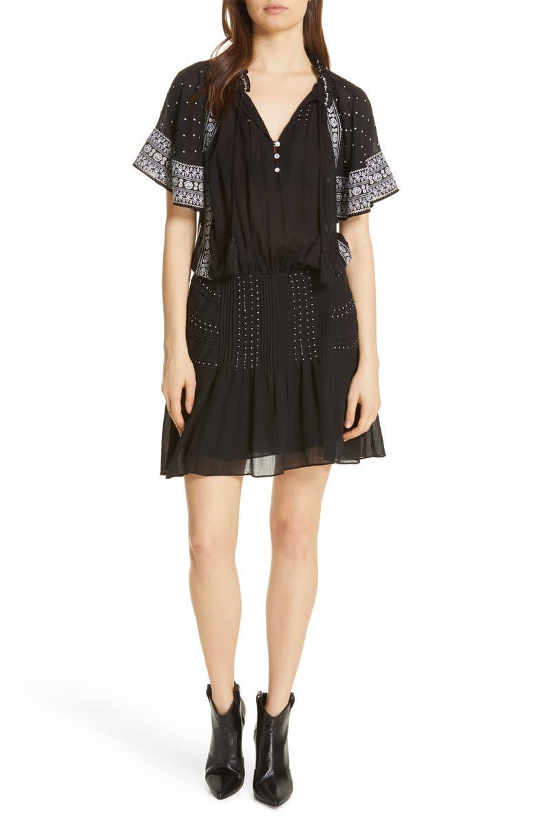 VERONICA BEARD Minos Embroidered Dress, Main, color, 001