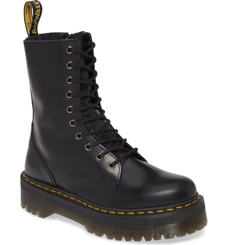 DR. MARTENS Jadon Hi Platform Boot, Main, color, BLACK SMOOTH