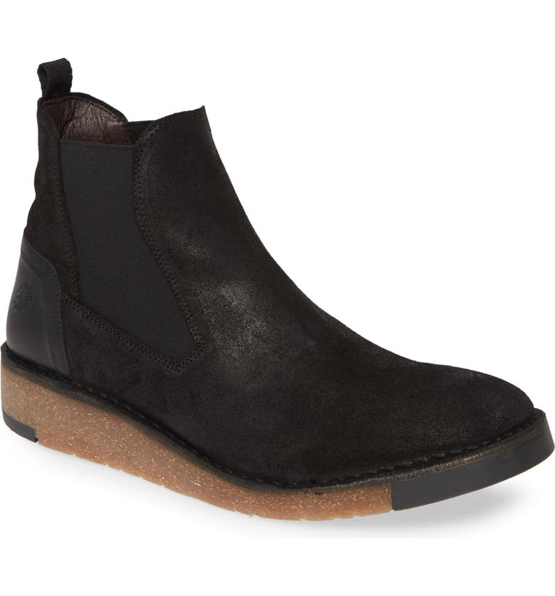FLY LONDON Serp Chelsea Boot, Main, color, BLACK DOLOMITE/ RUG