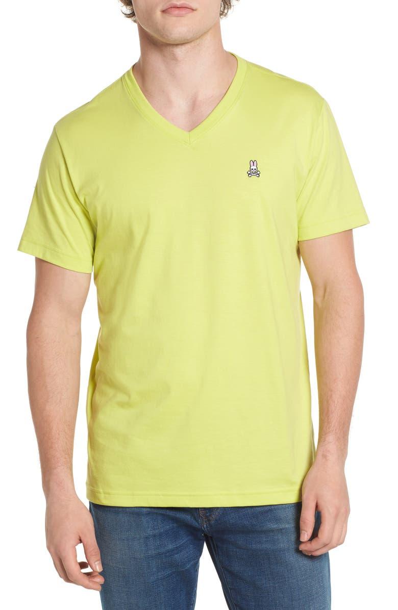PSYCHO BUNNY Classic V-Neck Slim Fit T-Shirt, Main, color, 333