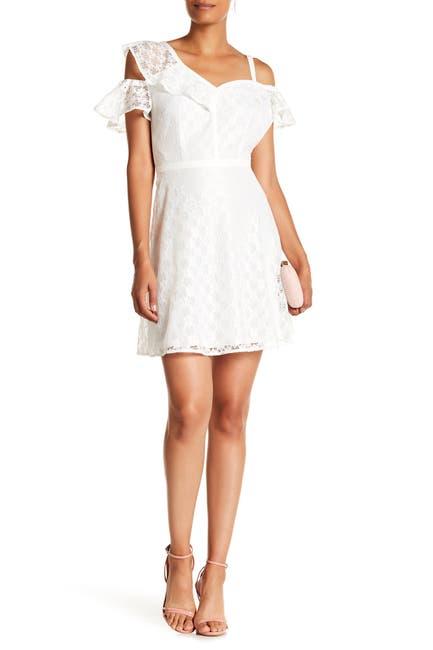 Image of GUESS Cold Shoulder Lace Dress