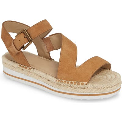 Nordstrom Signature Areanna Strappy Espadrille Sandal, Brown