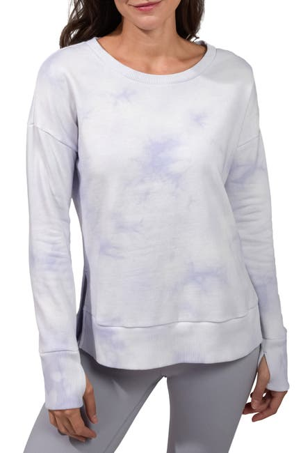 Image of 90 Degree By Reflex Brushed Knit Tie Dye Long Sleeve Top