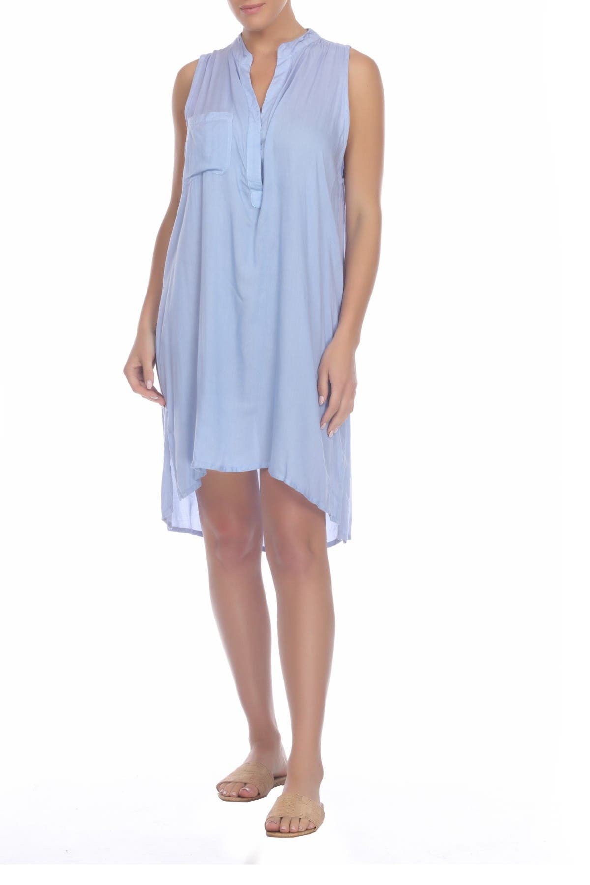 Image of BOHO ME Sleeveless Cover-Up Tunic Dress