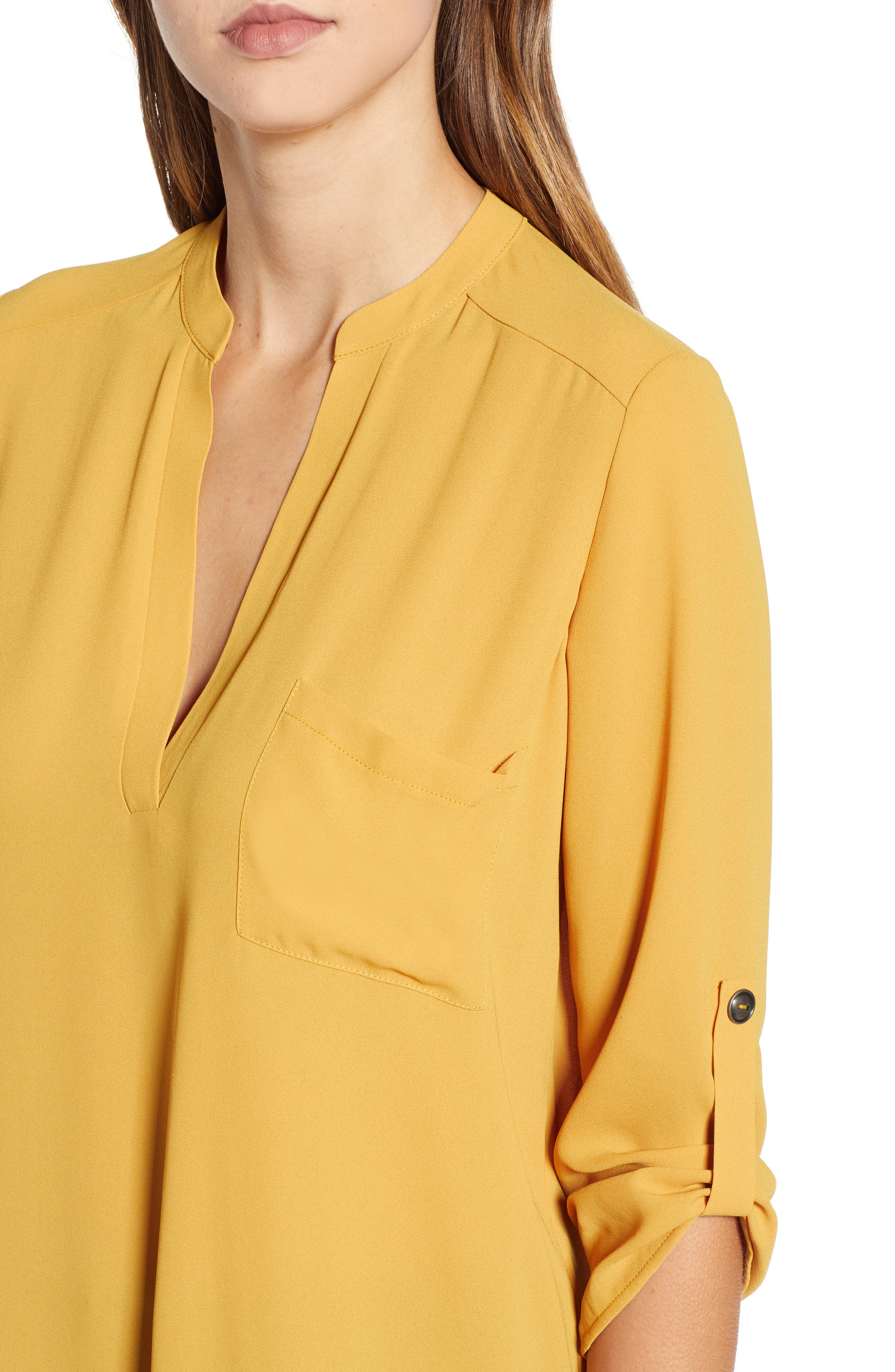 ,                             Perfect Roll Tab Sleeve Tunic,                             Alternate thumbnail 157, color,                             708