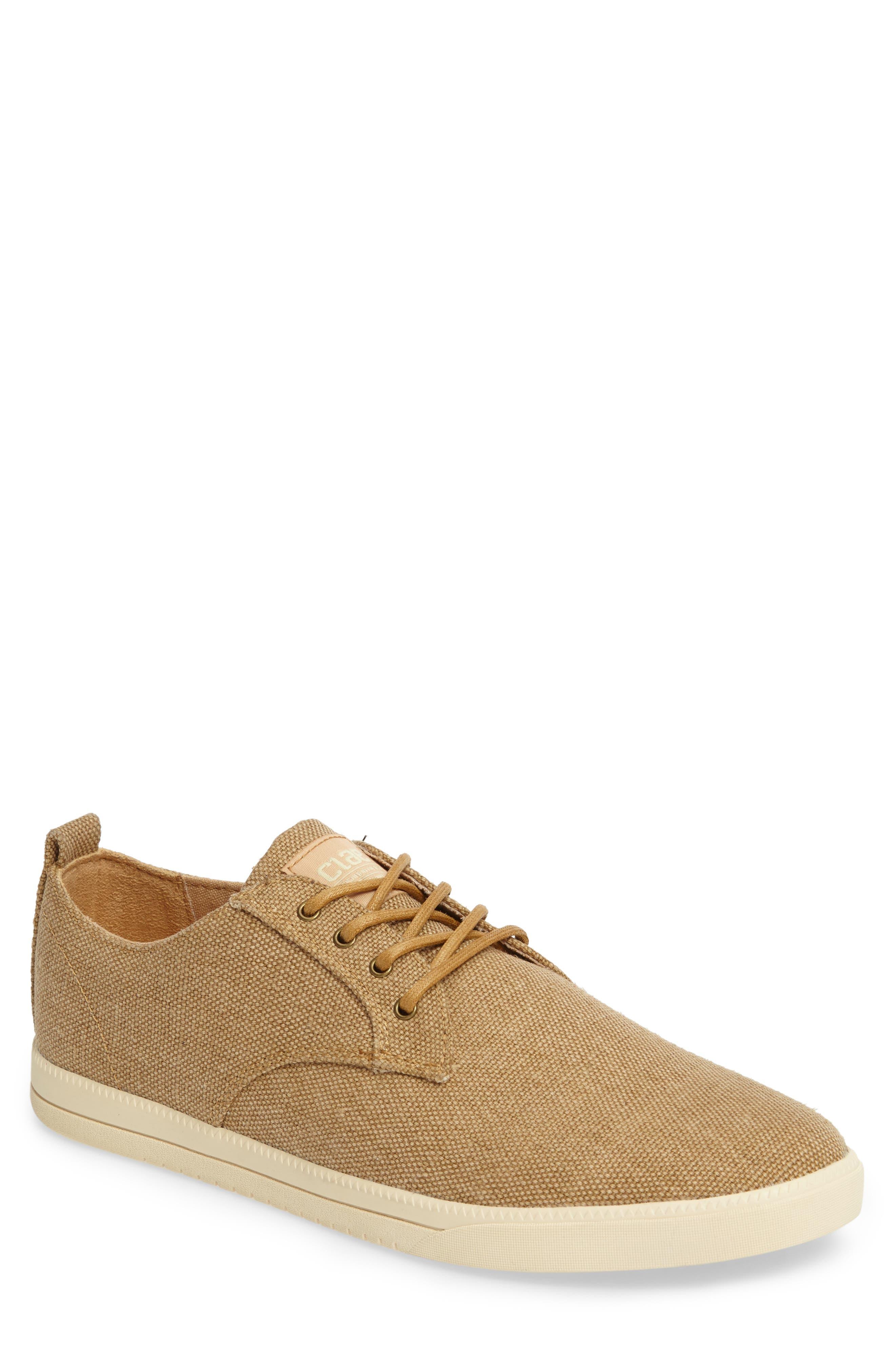 Ellington Sneaker, Main, color, TAN HEMP CANVAS