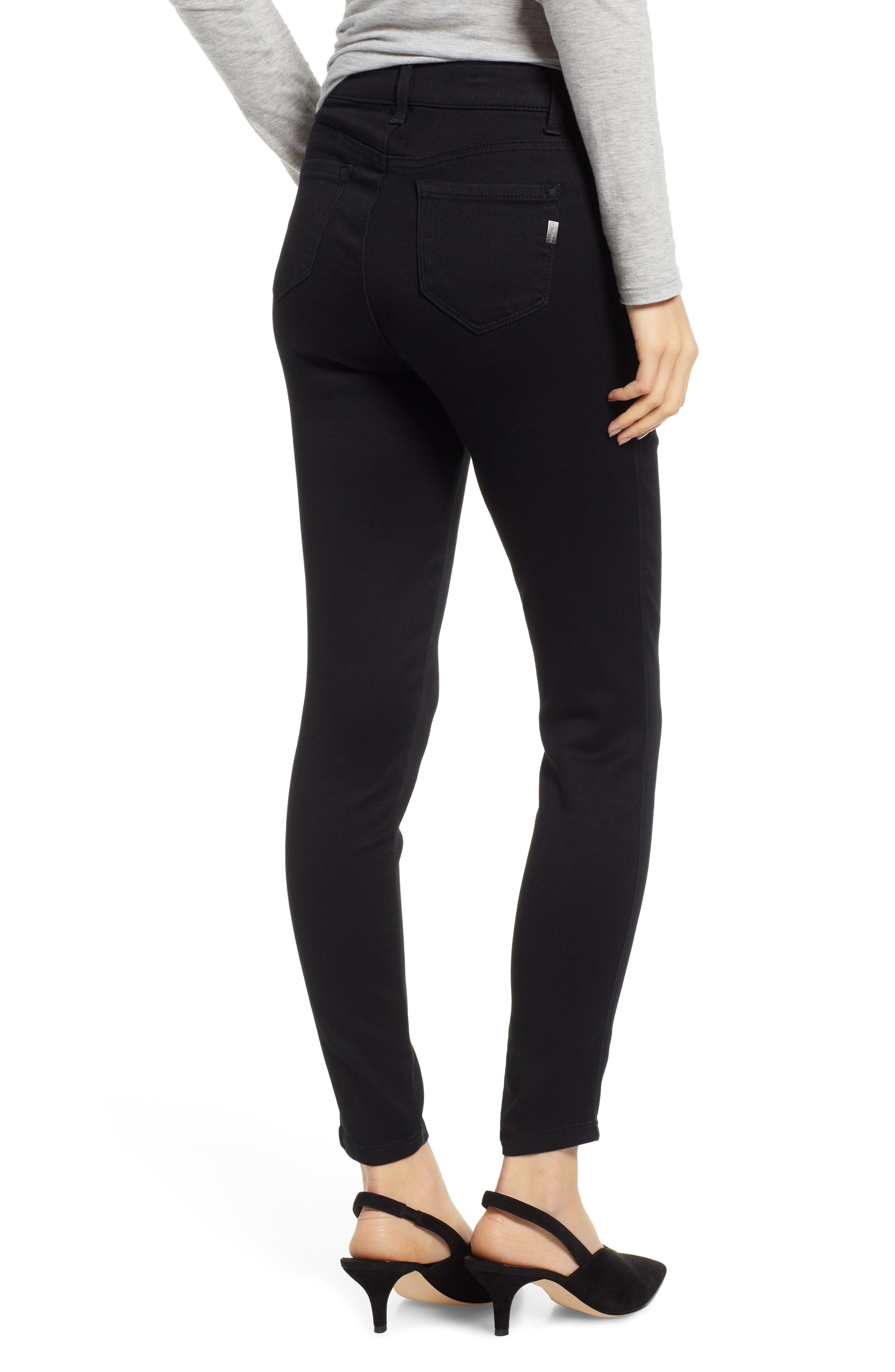 ,                             Butter High Waist Skinny Jeans,                             Alternate thumbnail 2, color,                             BLACK