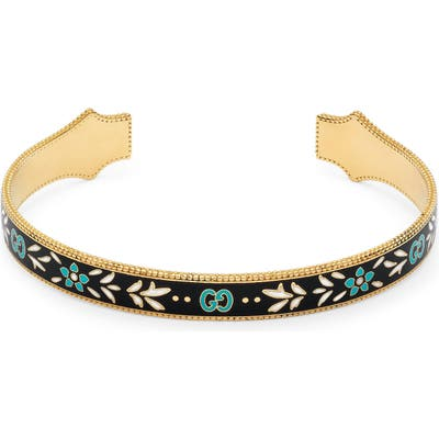 Gucci Icon Blooms Enamel Cuff