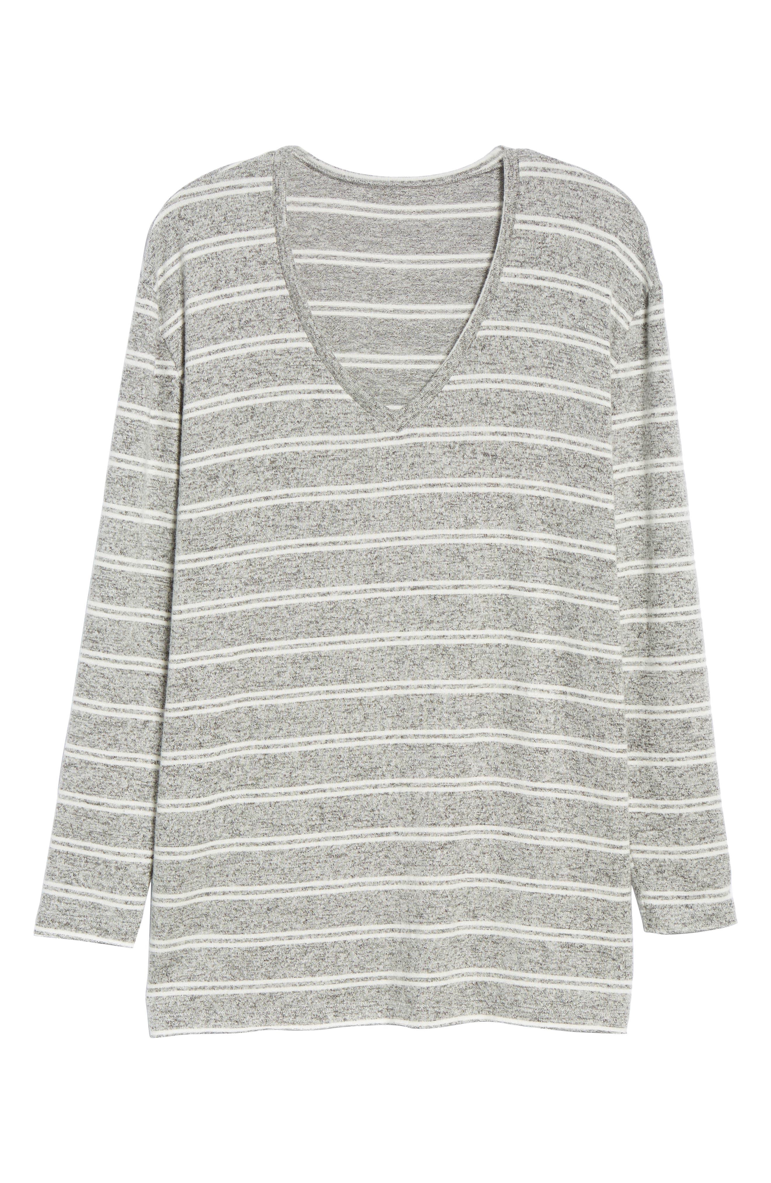 ,                             Cozy V-Neck Sweater,                             Alternate thumbnail 8, color,                             050