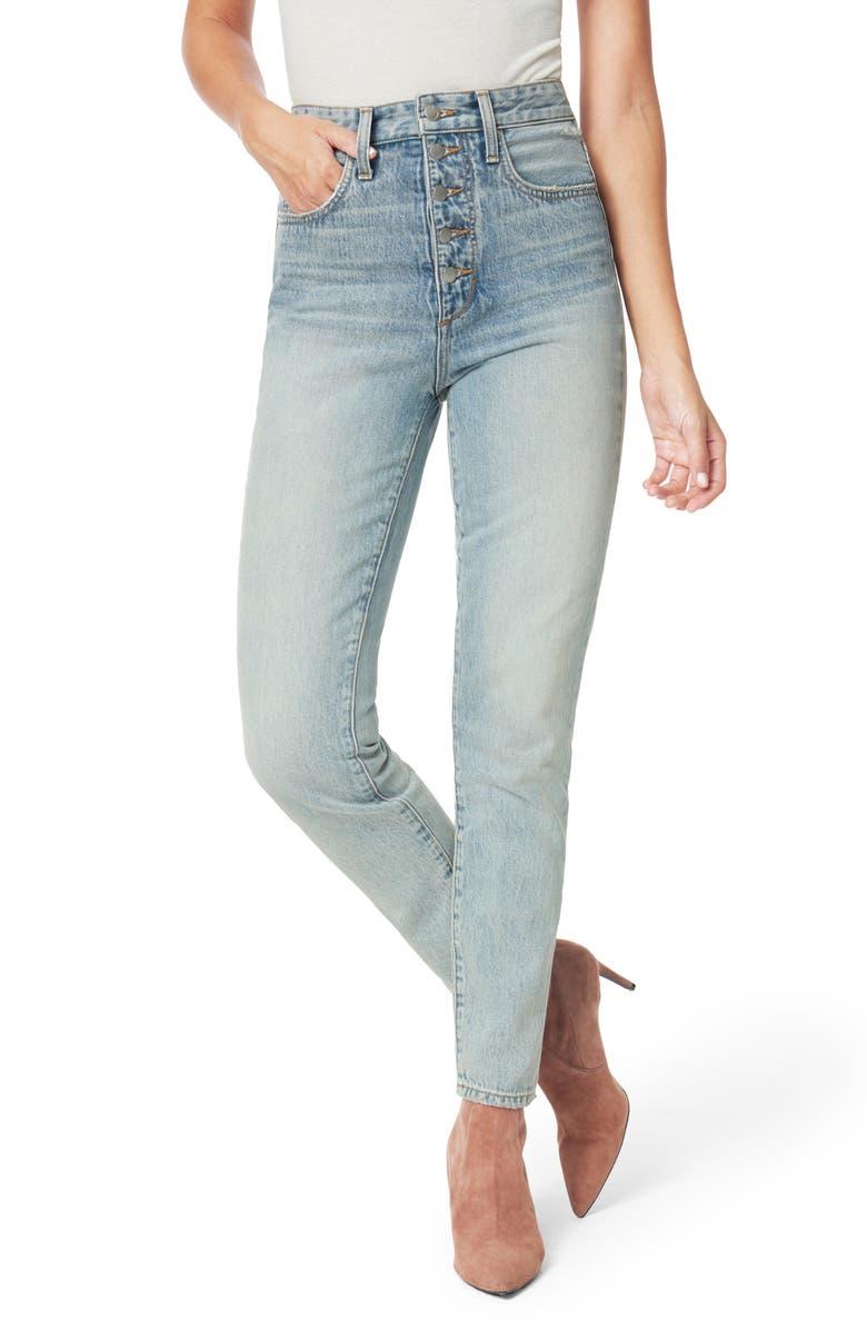 JOE'S x WeWoreWhat The Danielle High Waist Jeans, Main, color, VINTAGE LIGHT