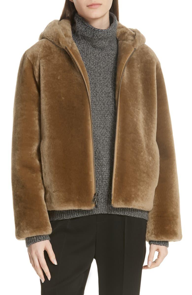 VINCE Plush Fleece Zip Front Hoodie, Main, color, 203