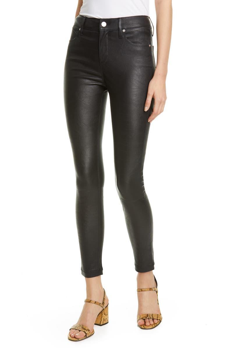 RTA Madrid High Waist Leather Ankle Skinny Pants, Main, color, NIGHTLIFE 2