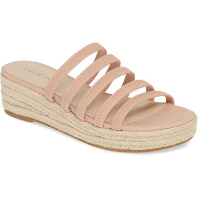 Pelle Moda Selby Strappy Platform Slide Sandal- Pink