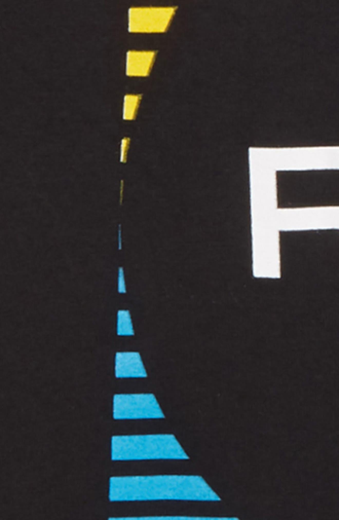 ,                             Motorstripe Graphic T-Shirt,                             Alternate thumbnail 3, color,                             BLACK