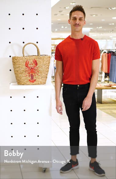 Lobster Woven Tote, sales video thumbnail