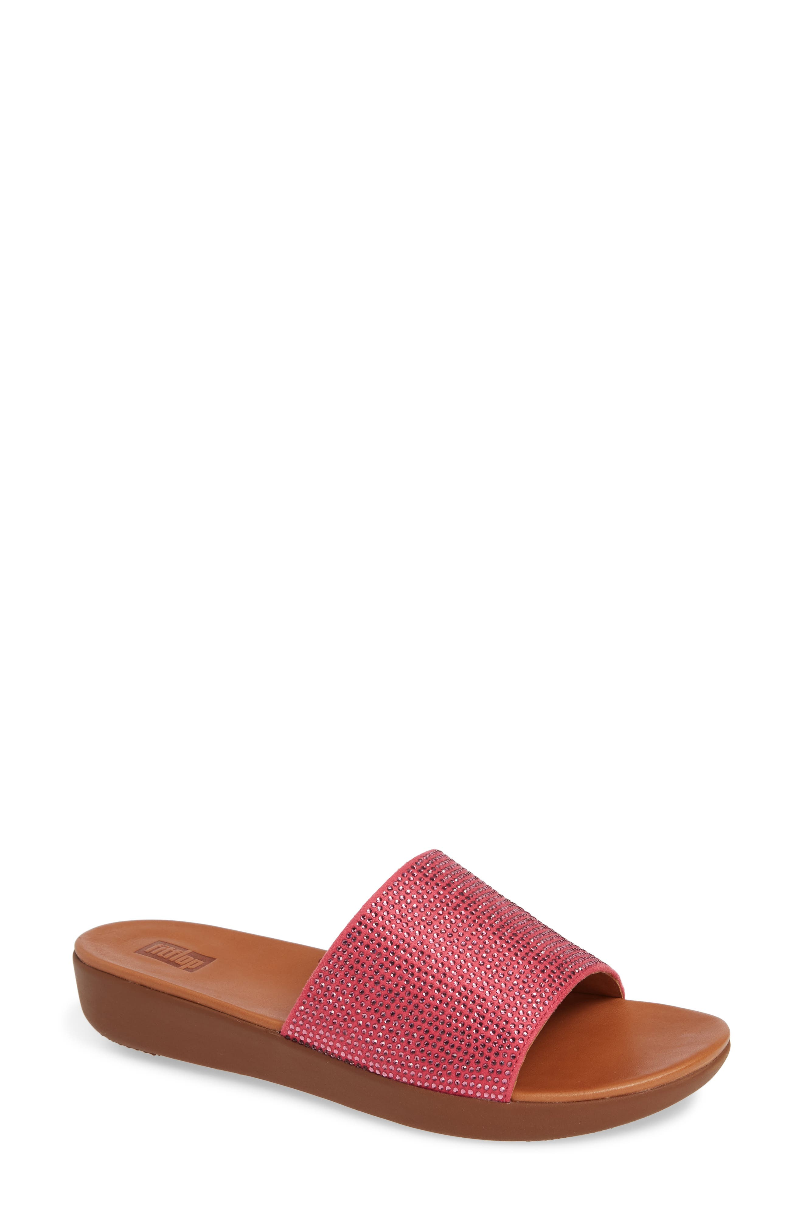 Fitflop Sola Crystalled Slide Sandal, Pink