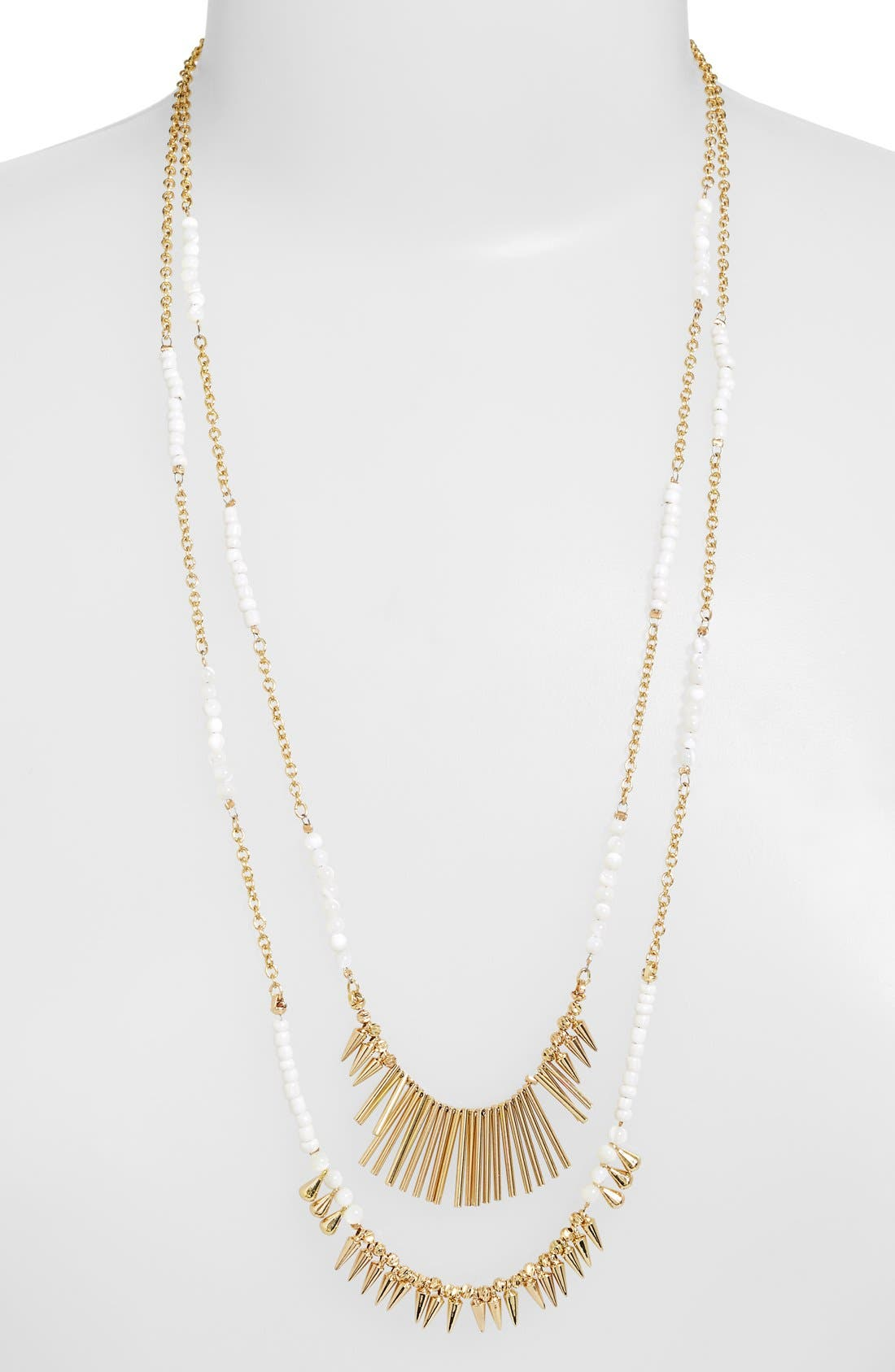 ,                             Beaded Fringed Two-Row Necklace,                             Main thumbnail 7, color,                             900