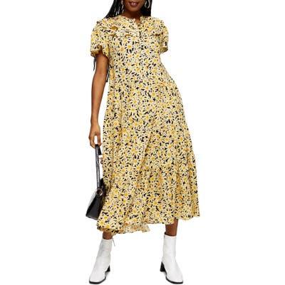 Petite Topshop Daisy Frandad Shirtdress, US (fits like 00P) - Yellow