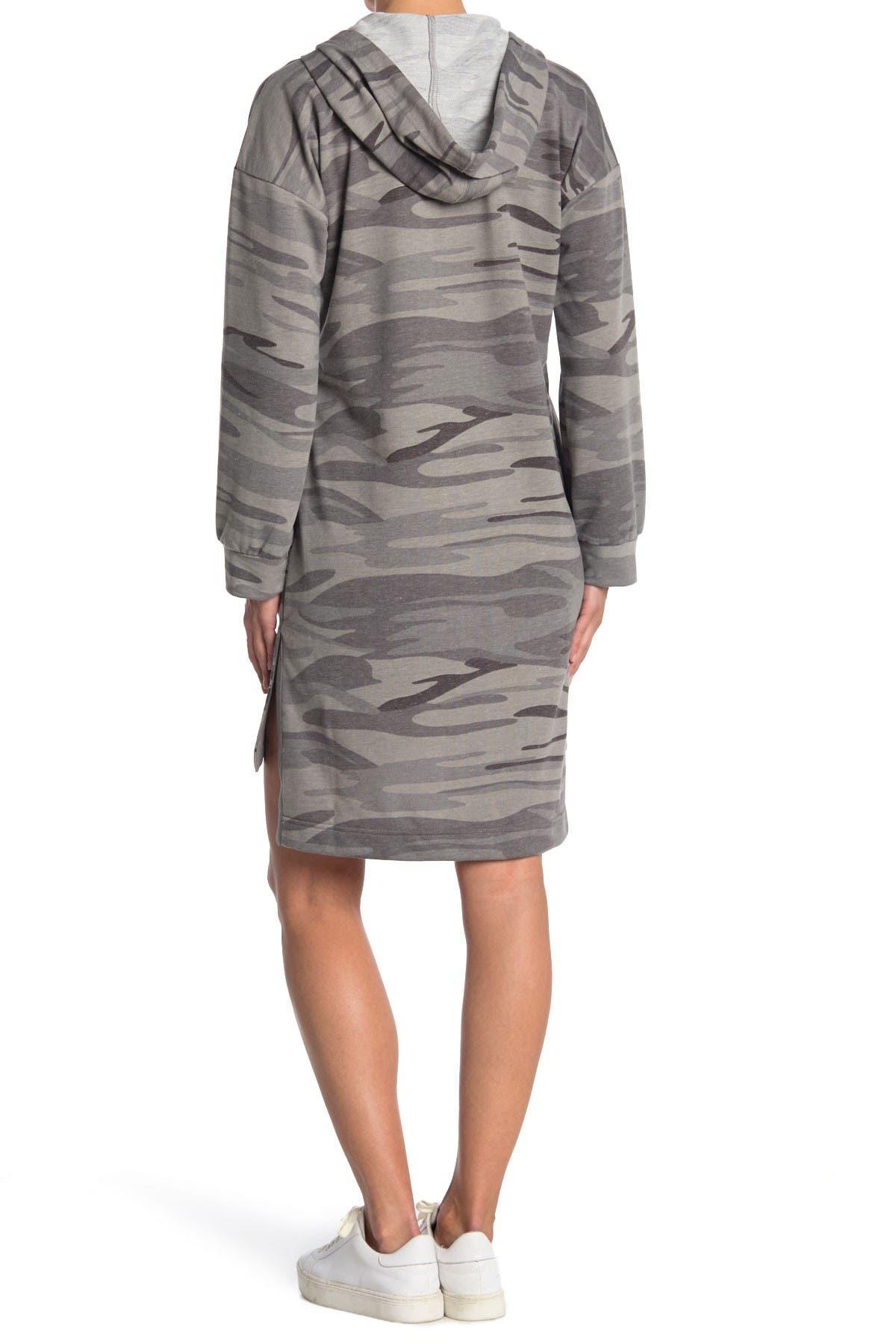 Melloday Hooded Sweater Dress In Open Grey12