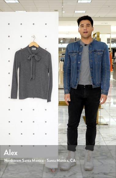 Essentials Tie Neck Cashmere Sweater, sales video thumbnail