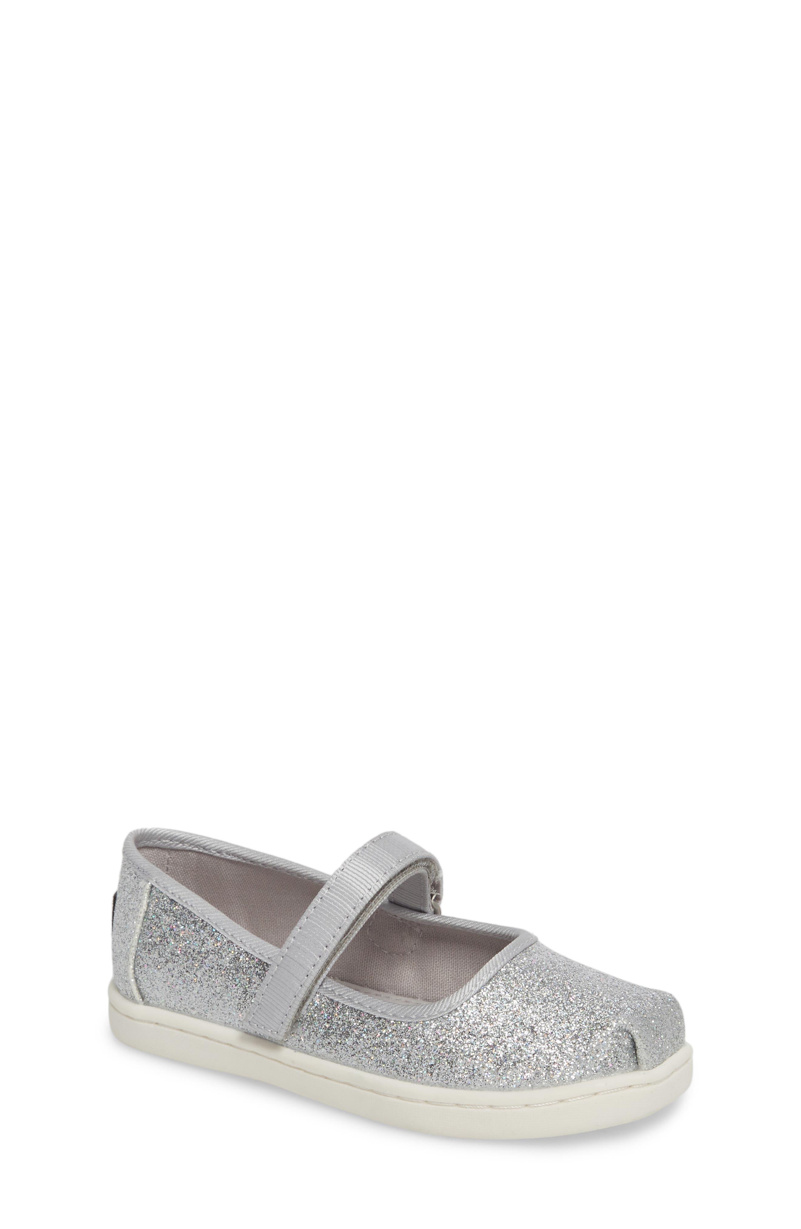 Infant Girls Toms Mary Jane Sneaker Size 4 M  Metallic