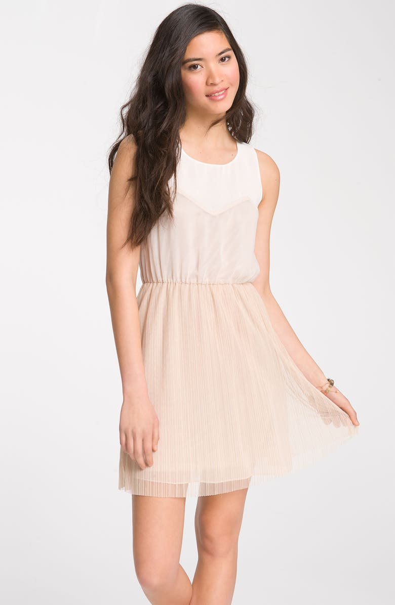 --- Mesh Overlay Dress, Main, color, 250