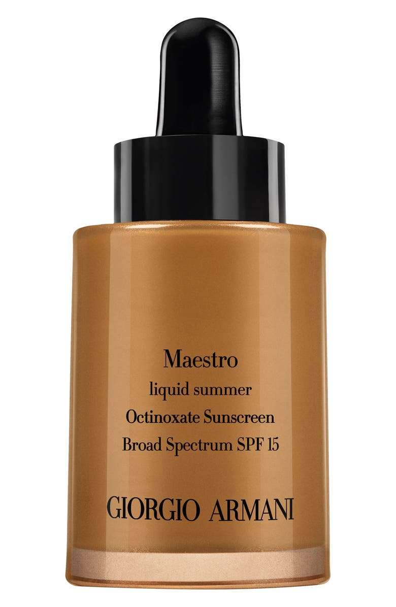 GIORGIO ARMANI 'Maestro' Liquid Summer Bronzer SPF 15, Main, color, 200