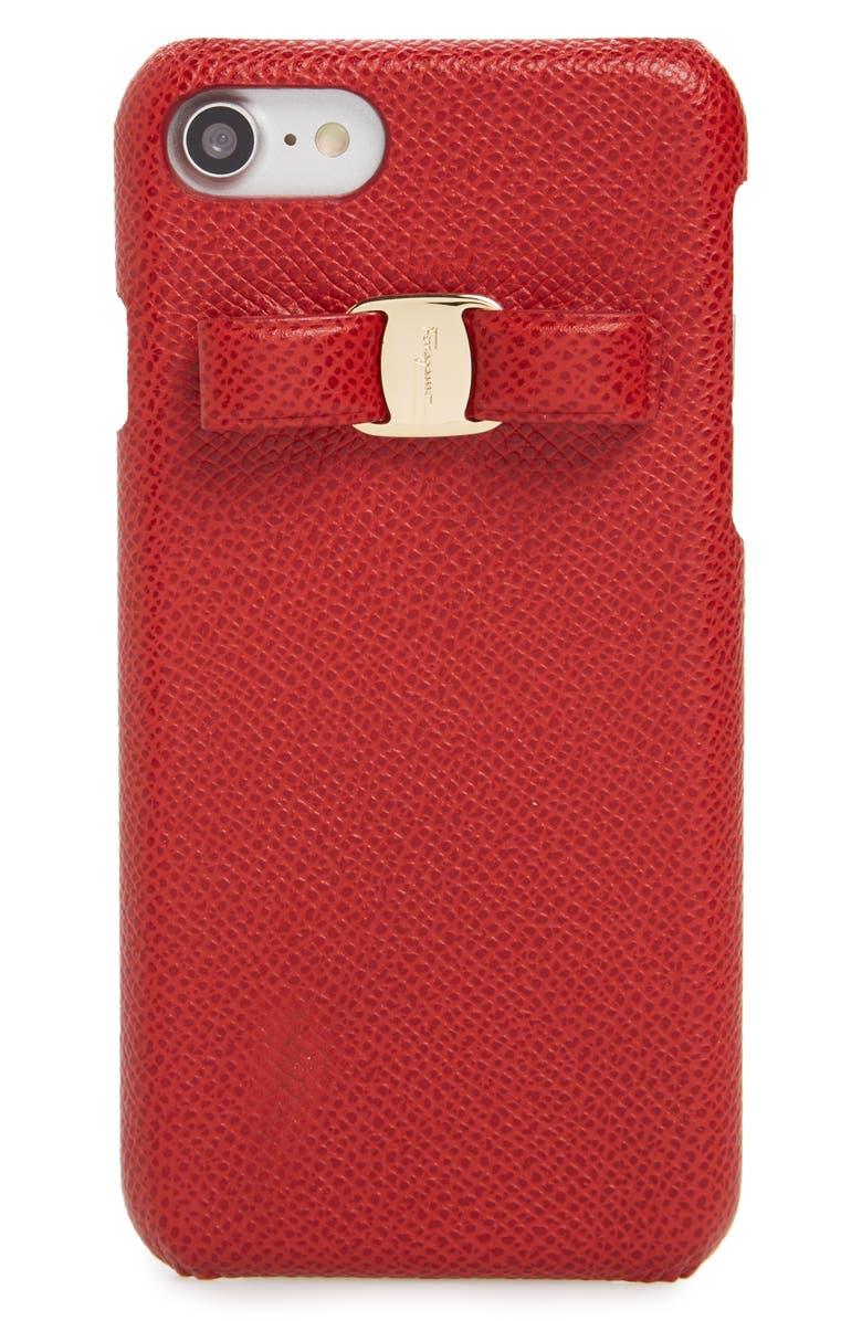 sale retailer 8559c 3cd70 Salvatore Ferragamo Vara iPhone 7 Case | Nordstrom