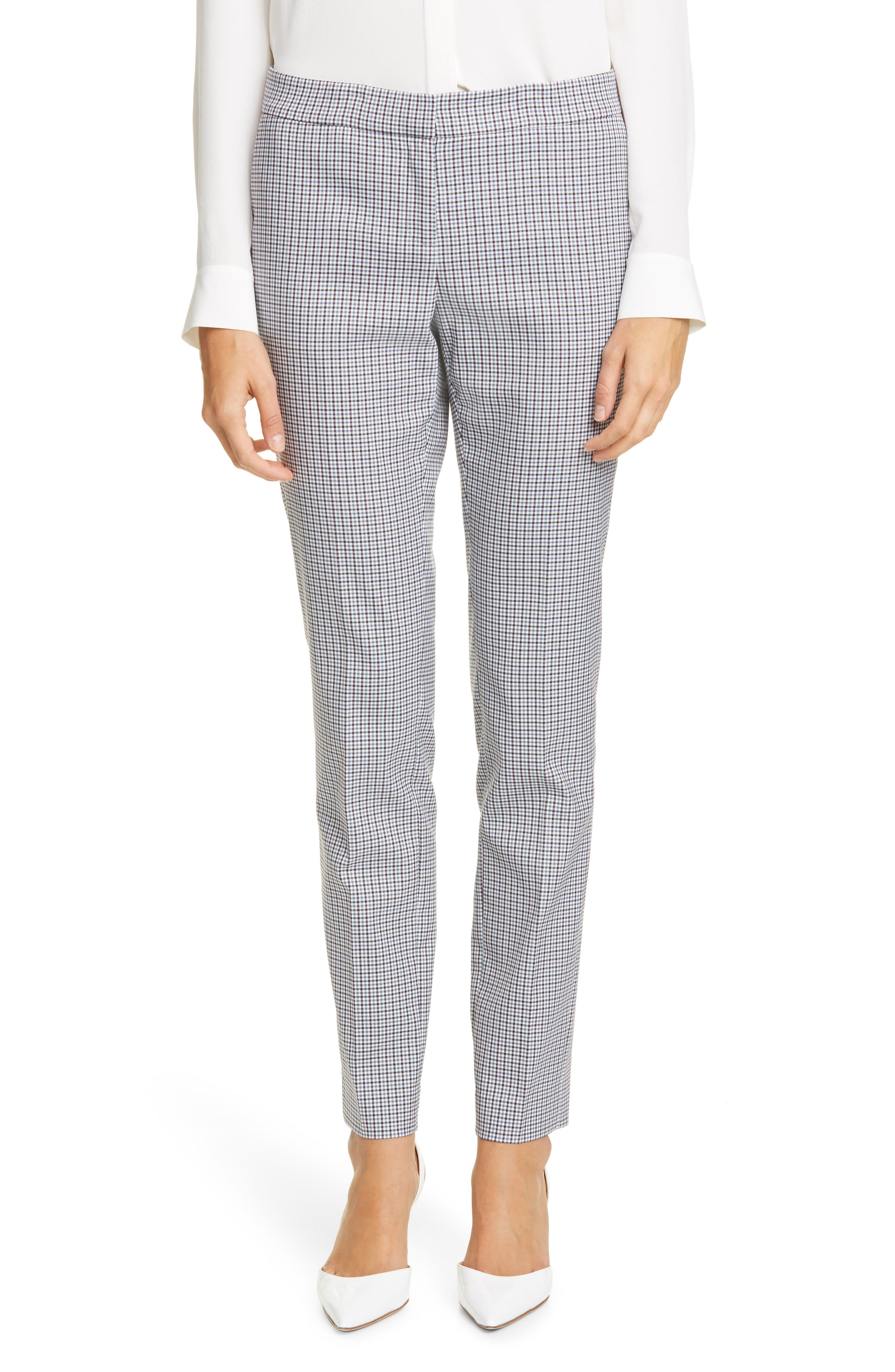 Image of Lafayette 148 New York Manhattan Slim Fit Pants