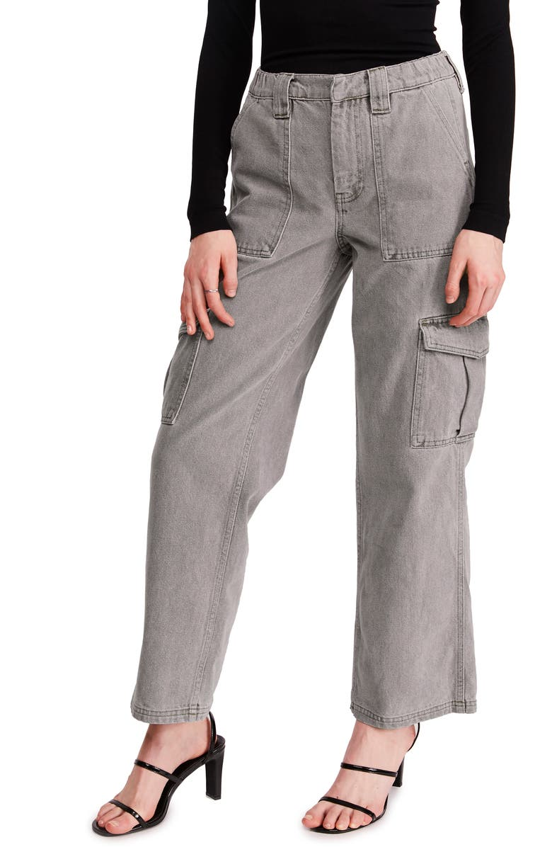 BDG URBAN OUTFITTERS Skate Wide Leg Cargo Jeans, Main, color, GREY