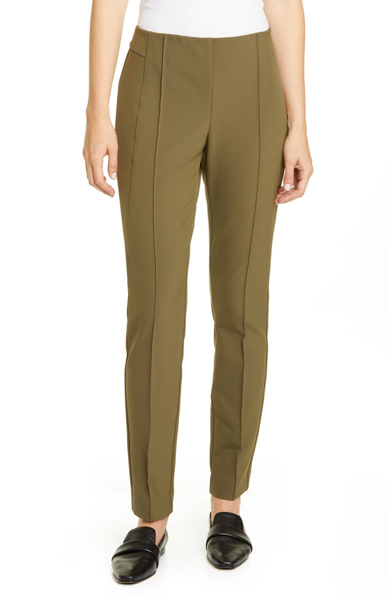 LAFAYETTE 148 NEW YORK 'Gramercy' Acclaimed Stretch Pants, Main, color, SYCAMORE GREEN