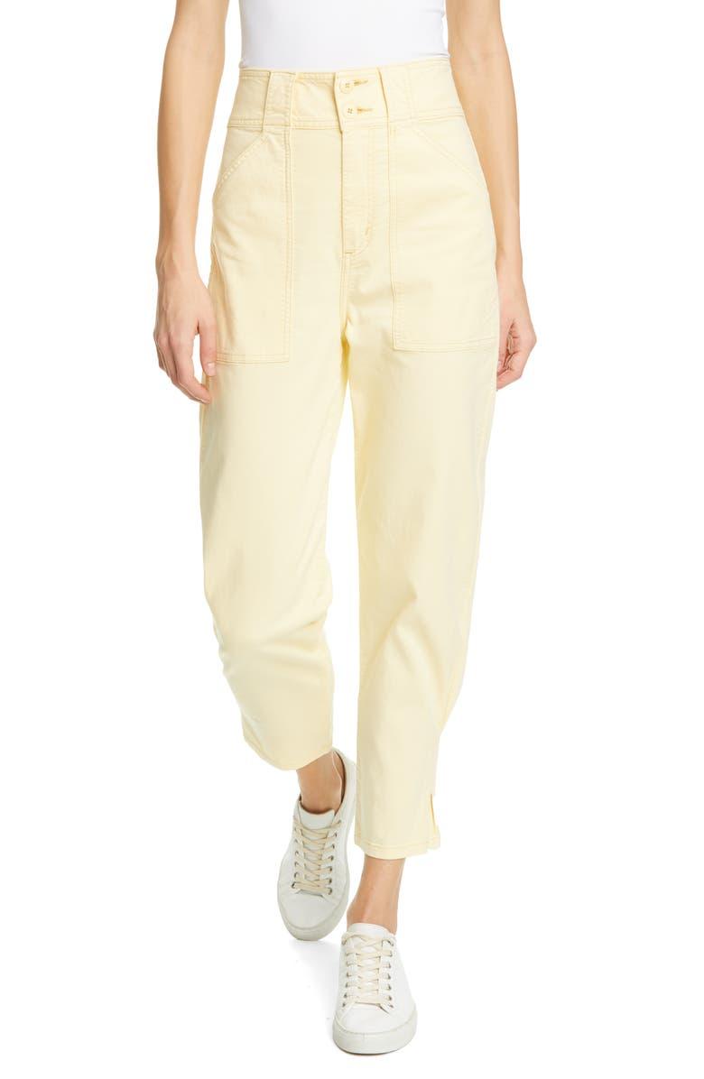 JOIE Mirenda High Waist Utility Pants, Main, color, BANANA