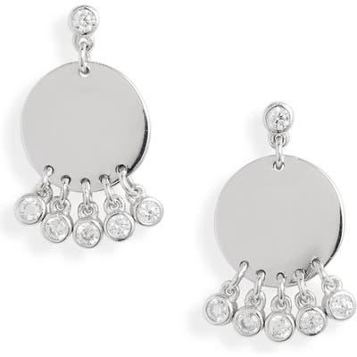 Knotty Fringe Disc Earrings