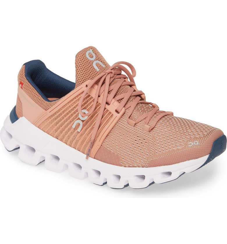 ON RUNNING Cloudswift Running Shoe, Main, color, BLUSH/ DENIM