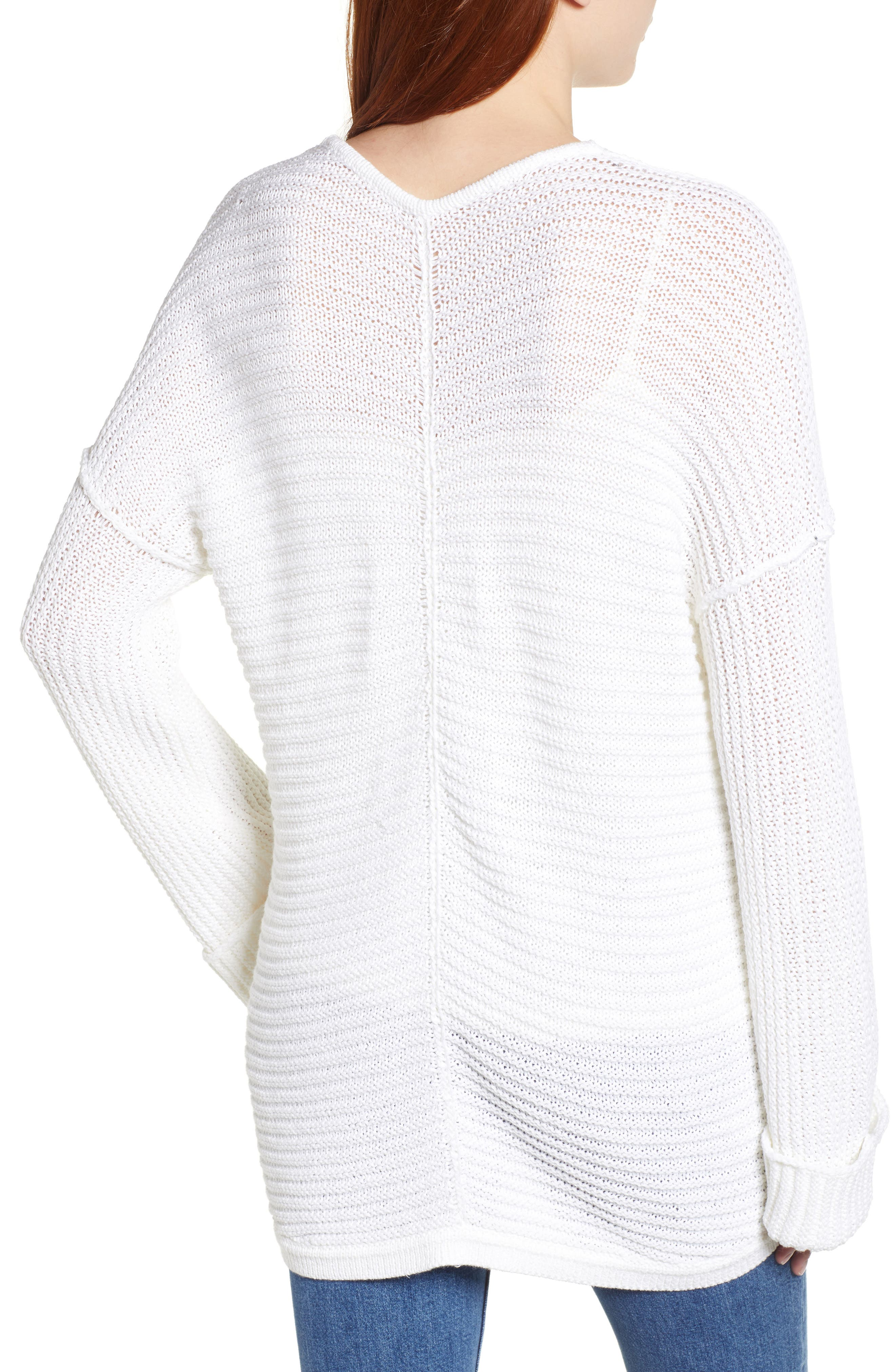 ,                             Cuffed Sleeve Sweater,                             Alternate thumbnail 8, color,                             100