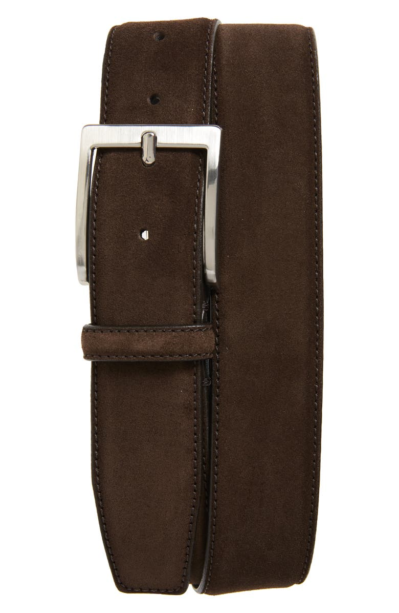 TO BOOT NEW YORK Suede Belt, Main, color, SUEDE ALASKA DARK BROWN