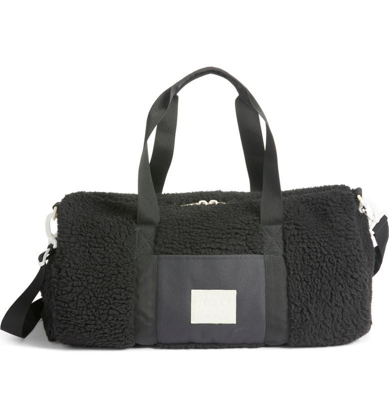 HERSCHEL SUPPLY CO. Herschel Supply Co Sutton Mid Volume Fleece Duffle Bag, Main, color, BLACK